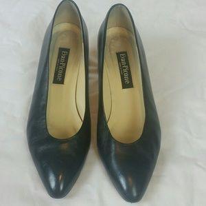 Evan--Picone Leather Blue Pointed Italian  Heel